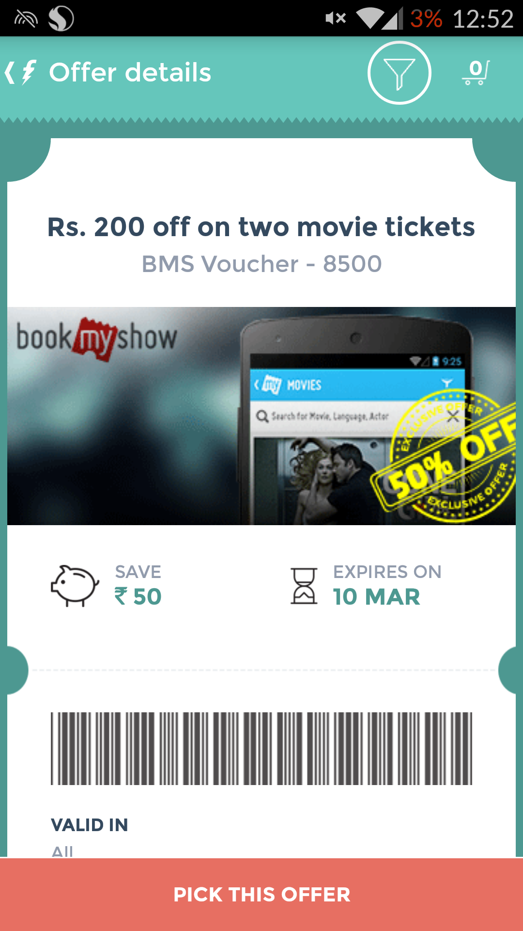 Freecharge movie coupons