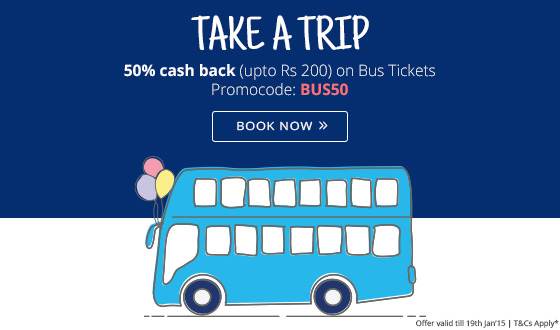 Bus booking discount coupon