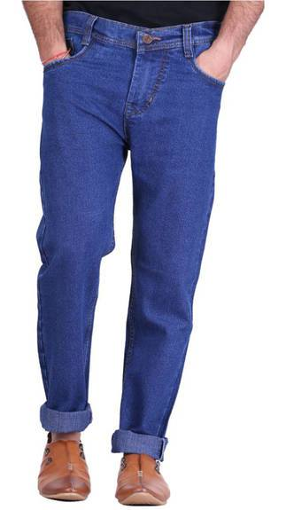 Hultung Stretchable Blue Cotton Jeans (Size-30)