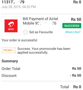 alive app paytm Rs 50 coupon proof