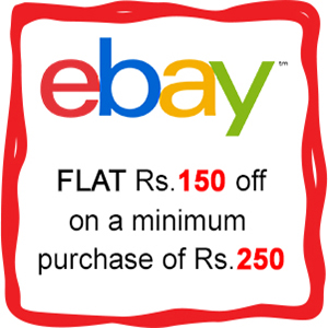 ebay Rs 150 off on Rs 250 + extra 10 cashback
