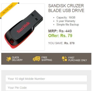 ebay sandisk 16 gb pendrive Rs 79 only