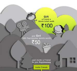 payumoney gift a movie voucher worth Rs 100 and get Rs 50