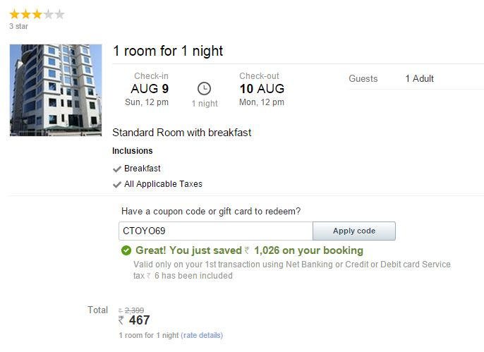 Cleartrip hotel booking coupons