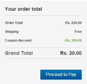 ebay Rs 200 off on Rs 220 coupon