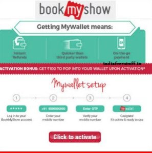 bookmyshow Rs 150 free wallet balance