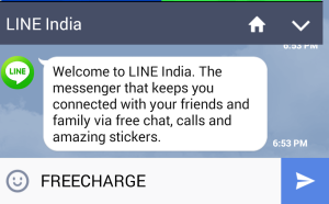line india freecharge Rs 50 cashback on Rs 20