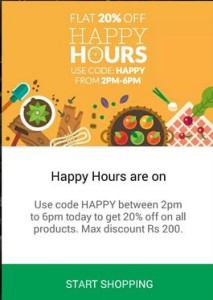 peppertap buy grocery at flat 20% discount