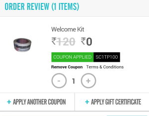 shopclues welcome kit free