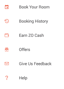 zo rooms menu refer and earn