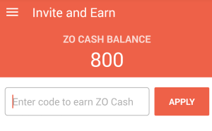 zorooms Rs 800 free wallet balance
