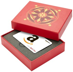 Amazon.in Red Gift Card Box - Rs.2000, White Card Rs 1900 only