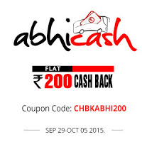 Abhibus offering to get Bus Booking Rs.200 Cashback on Rs. 400
