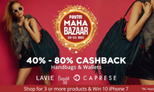paytm mahabazaar sale get exciting discounts + 40-80 cashback on bags and wallets