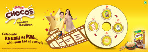 Kellogs- Buy Kellogs Chocos and get Free Movie Voucher
