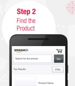 amazon app treasure hunt find the product