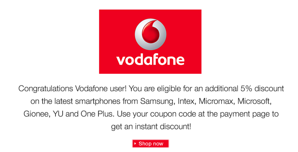 Httpdealnlootdaily dealsfooddominos get flat 25 off on amazon vodafone 5 discount on phonesg fandeluxe Choice Image