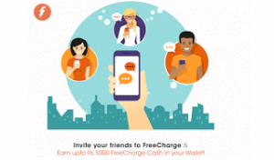 freecharge refer and earn upto Rs 5000