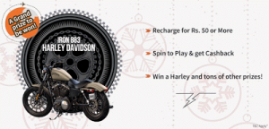 Freecharge Spin n Win - Recharge to get tokens and win free credits
