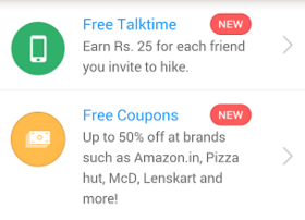 hike app get snapdeal Rs 100 off coupon