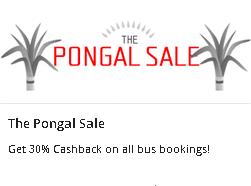 Abhibus (The Pongal Sale) - Get 30% Cash Back on all Bus Booking