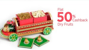 Paytm Flat 50 cb on Dry fruits