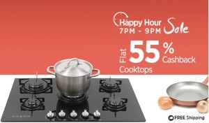 Paytm Happy Hour sale Gas cooktops at 55 cb