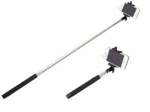 price up snapdeal buy photron slf150 selfie stick with aux cable black a. Black Bedroom Furniture Sets. Home Design Ideas