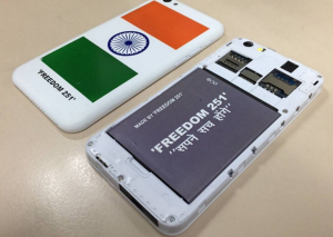 freedom251 mobile phone picture back and front look