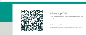 whatsapp web QR code on laptop or PC or browser
