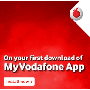 MyVodafone app- Register on the app and get Free 100 mb Data