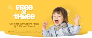 Firstcry Free @ Three– Get First 500 orders worth Rs.1000 Absolutely free
