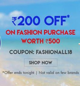 Firstcry- Get Flat Rs.200 off on Fashion purchase worth Rs 500 or More