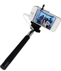 price up snapdeal m zone extendable selfie stick with aux cable hand held monopod black at. Black Bedroom Furniture Sets. Home Design Ideas