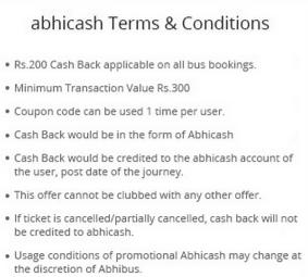 Abhibus- Get Flat Rs 200 Cashback on Minimum Bus Booking of Rs 3001