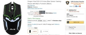 bb0a25fa8a6 Amazon- Buy Dragon War ELE-G10 Aries Blue Sensor Gaming Mouse with ...