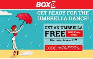 box get umbrella free on food orders of Rs 250 or more