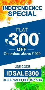 Shopcj Independence Special :- Get flat Rs 300 off on Purchase of Rs 999 or above