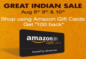 Add a gift card to amazon