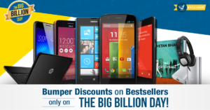 The Big Billion Days | Upto 50% Off on Mobiles, Tablets + Extra 10% Off on Axis Bank Cards & ICICI Credit Cards (30th Sept-4th Oct)