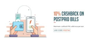 freecharge get flat 10 cashback on postpaid bill payments