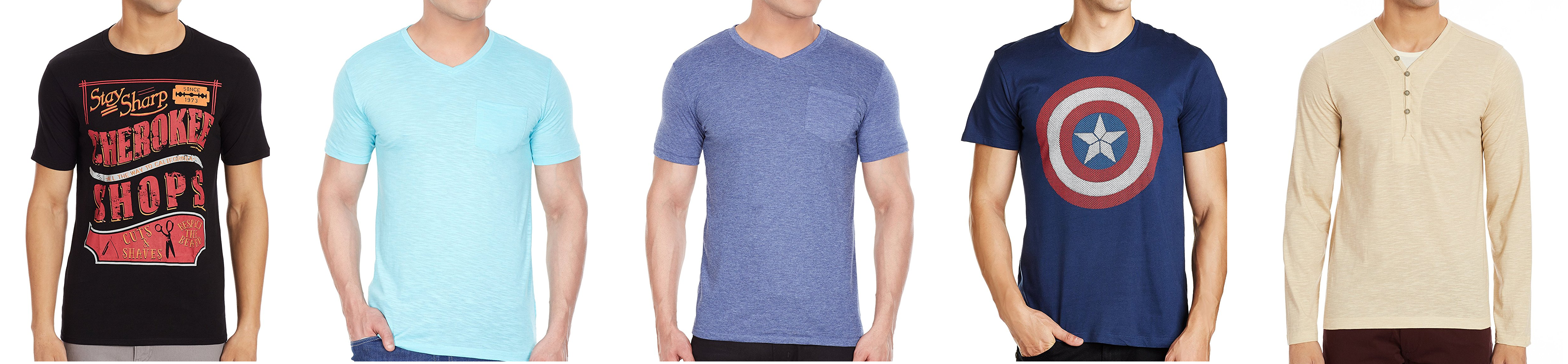 22d5739f7405 Back again) Amazon - Flat 60% off on Colt and Cherokee Men s T-Shirt