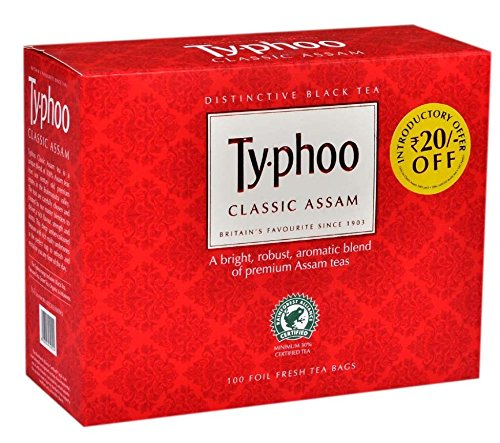 (Hurry) Amazon - Buy Typhoo Classic Assam Tea, 100 Tea Bags for just Rs.66 (49% off)