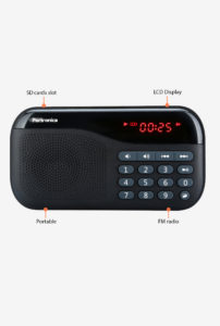 TataCliq - Buy Portronics Plugs Portable Sound System (Black) at Rs 749 only