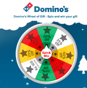 Expired) Domino's Spin and win - Get free coupons/vouchers with ...