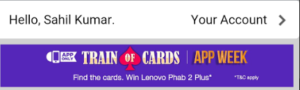 amazon train of cards contest banner