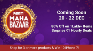 paytm mahabazaar sale get 80 off on 1 lac items and 1 re hourly surprise deals