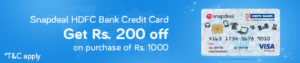 get Rs.200 off on Rs.1000 through HDFC on dail need products