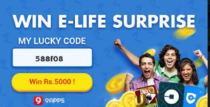 9apps invite and earn Rs 5000