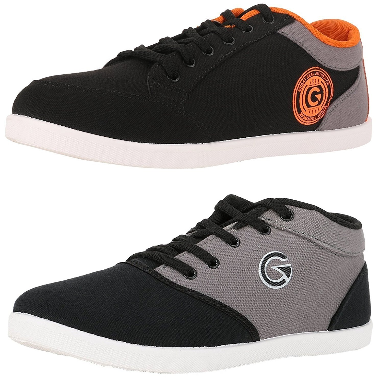 Amazon - Buy Globalite Men's Casual Shoes(Combo Of 2) for just Rs.499